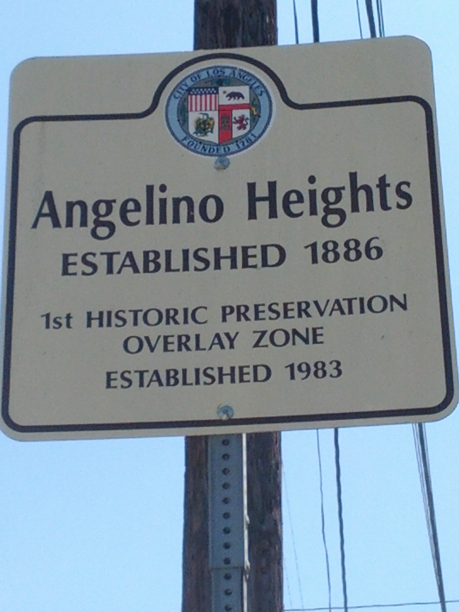 Angelino Heights, est. 1886, 1st historic preservation overlay zone est 1983